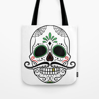 Day Dead Sugar Skull Tote Bag by Smyrna