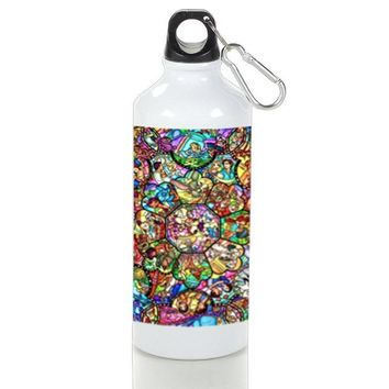 Gift Sport Bottles | All Characters Disney Stained Glass Aluminum Sport Bottles