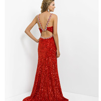 (PRE-ORDER) Blush 2014 Prom Dresses - Valentine Sequin & Jewel Prom Gown