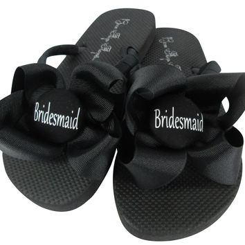 Bridesmaid Bow Flip Flops - choose colors