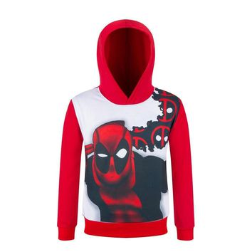 Deadpool Dead pool Taco  Cosplay Costume 3D T Shirt Autumn Long Sleeve Tee Shirt Hooded Sweatshirt For Kids Boys Clothes Anime Pullover Hoodies AT_70_6