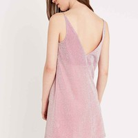 Pippa Lynn Lurex Slip Dress in Pink - Urban Outfitters