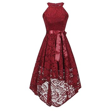 Elegant women lace solid midi dress Off shoulder sash wrap dress Autumn winter embroidery female dress vestidos
