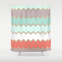 AVALON CORAL Shower Curtain by Monika Strigel