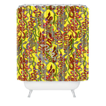 Sharon Turner Year Of The Snake Shower Curtain