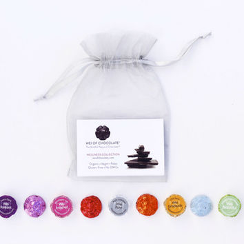 9pc Organza Dark Chocolate Sampler