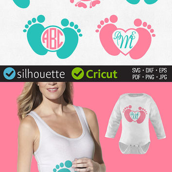 Baby Feet Svg Baby Feet Monogram Svg Baby Feet Frames Svg Baby Feet Clipart Baby Shower Svg Cut Files For Cricut Svg Dxf Jpg Png Pdf Eps