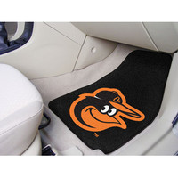 "Fan Mats Mlb Baltimore Orioles Cartoon Bird 2 Piece Carpeted Car Mats 18""X27"""