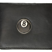 8 Ball Design Mens Genuine Leather Bifold Wallet 1146-7 (C)