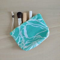 Summer makeup bag - seashell pattern cosmetic bag