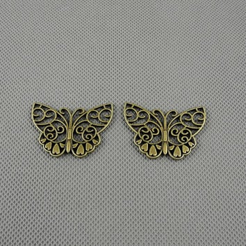 2x Making Jewellery Supply Pendant Lots konvolut Jewelry Findings Charms Schmuckteile Charme 4-A3107 Butterfly