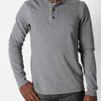 Reigning Champ FW12 LS Henley Charcoal - CONTEXT CLOTHING - Free Shipping!