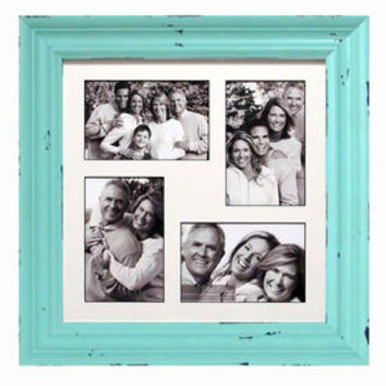 12 X 12-in Distressed Light Blue Collage Picture Frame