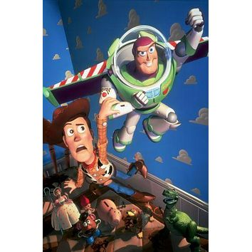 Toy Story Movie 11inx17in poster Wall Art Buzz Woody No Text