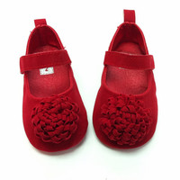 0806 Festival Flower 0-1 Years Newly Born Infant Baby Girls First Walkers Kid Bebe Sapato Jane Shoes