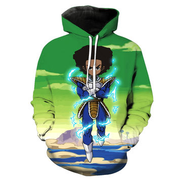 Huey Freeman Prince Saiyan The Boondocks & Dragon Ball Z Hoodie