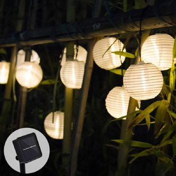 Solar Light LED Lantern String Lights Ball 10/20 LED Solar Garland Outdoor Fairy Lights Christmas Lighting for Garden Decoration
