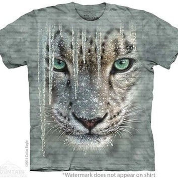 Icicle Snow Leopard Kids T-Shirt
