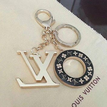 LV trend personality fashion men and women models beautiful keychain