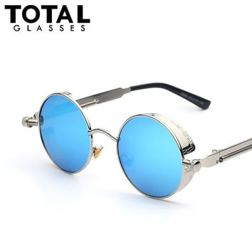TOTAL Glasses Round Metal frame Sunglasses for Men and Women