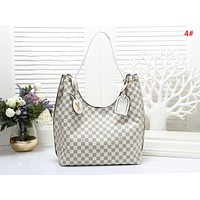 LV Louis Vuitton Fashion New Monogram Check Print Shopping Leisure Shoulder Bag Women Handbag 4#