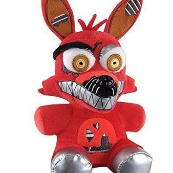 """New Authentic Five Nights At Freddy's NIGHTMARE FOXY 8"""" Plush Stuffed FNAF"""