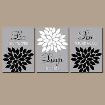 Gray And White Wall Art bathroom wall art black and white - healthydetroiter