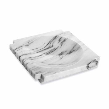 Interlude Home Haven Large Marble Candy Dish in Arabescato