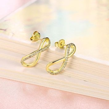 Golden NYC 18K Gold Plated Huggies Earring-Classic Pave