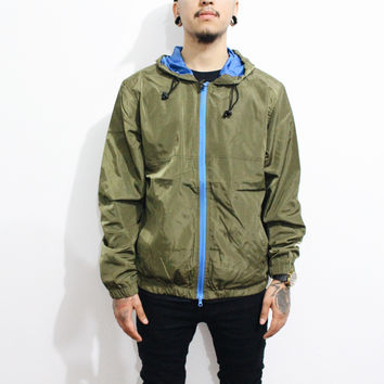 Arnold Windbreaker Jacket (Olive Green)