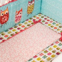 Zutano Owls Fitted Crib Sheet