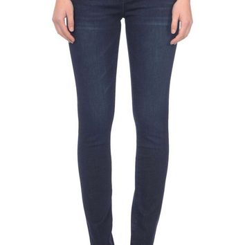 Lola Jeans Rebeccah Pull On Straight Leg Jeans Midnight Blue