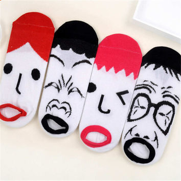 2016 New Mens Womens Spoof Casual Sports Ankle Socks (4 PCS) Socks-24