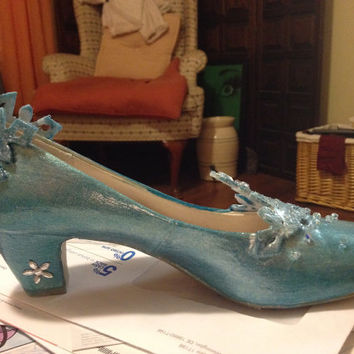 Custom made Elsa Shoes from Frozen