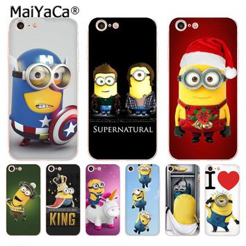 MaiYaCa Despicable Me Yellow Minion banana soft tpu phone case cover for Apple iPhone 8 7 6 6S Plus X 5 5S SE 5C 4 4S case funda