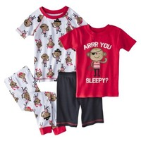 Just One You™ Made by Carter's® Infant Toddler Boys' 4-Piece Short-Sleeve Monkey Pajama Set