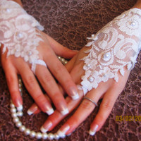 Lace gloves, Bridal accessories, Bridal gloves, Wedding gloves, Fingerless Gloves