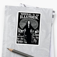 "'Morticia Addams-""Normal Is An Illusion...""' Sticker by torg"