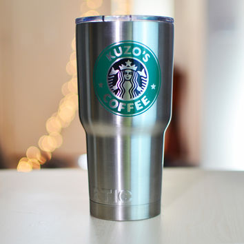 Personalized Starbucks 20oz. tumbler stainless steel, double wall vacuum insulated