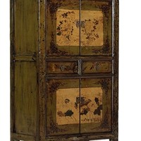 Green cabinet - Unique antique furniture, oriental ethnic collection.