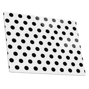 Black Polka Dots on White Metal Panel Wall Art Landscape - Choose Size by TooLoud