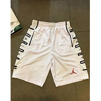 AJ JORDAN New Fashion Casual Classic Logo Fashion Shorts F-AA-XDD White