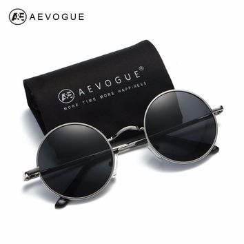 AEVOGUE Polarized Sunglasses For Men/Women Small Round Alloy Frame Summer Style Unisex Sun Glasses UV400 AE0518