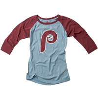 Philadelphia Phillies Women's Mainstay 3/4 Sleeve T-Shirt by Red Jacket