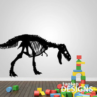 Dinosaur Skelton T Rex Wall Decal Sticker SKU0151