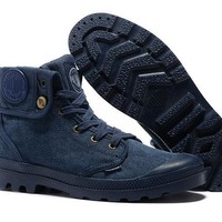 Palladium Baggy Lll Men Turn High Boots Navy Blue