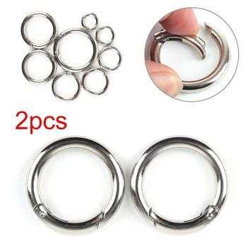 Buckles Clips Plated Gate Spring O-Ring For Purses Handbag Pets Dog Collar Round Push Trigger Style Snap Hook Zinc Alloy