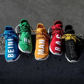 """""""Adidas"""" NMD Human Race Black Leisure Running Sports Shoes Colorful"""