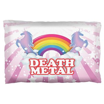 Death Metal Rainbow Pillow Case
