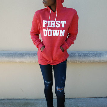 First Down Hoodie - Red